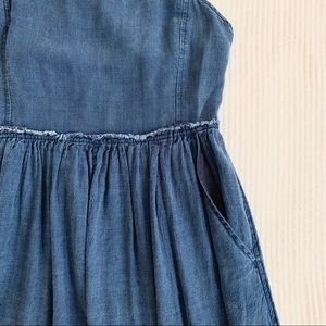 Aritzia Dresses - Aritzia Wilfred Denim Overall/Pinafore Dress